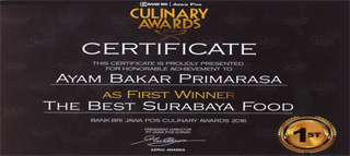 Culinary Awards - First Winner - The Best Surabaya Food